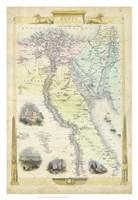 Vintage Map of Egypt Fine Art Print