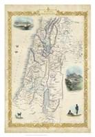 Vintage Map of Palestine Fine Art Print