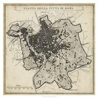City Plan of Rome Fine Art Print