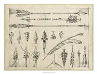 Arrow Schematic I Framed Print