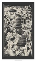 Chinese Bird's-eye View in Grey I Framed Print