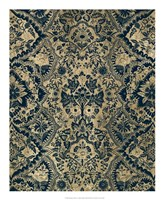 Baroque Tapestry in Aged Indigo I Framed Print