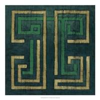 Emerald Diversion I Framed Print