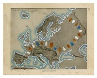 Relief Map of Europe Fine Art Print