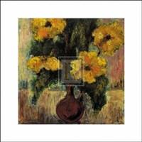 "Fleurs d'Automne III by Tina - 8"" x 8"""