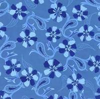 Blue Paisley Fine Art Print
