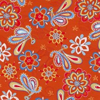 Orange Paisley Fine Art Print