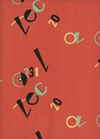 Russian Letters Red Fine Art Print