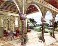 Golden Villa By The Sea Fine Art Print
