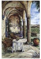 Loggia In Viola Fine Art Print