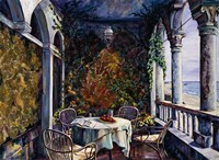 Dining By The Sea Fine Art Print