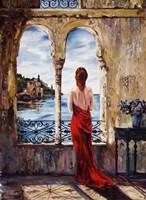 Serene In Red Fine Art Print
