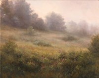 Meadow In Mist Fine Art Print