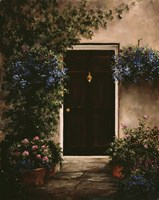 Burgundy Door Fine Art Print