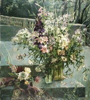 Flowers in Gallery Fine Art Print