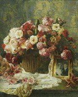 Still Life with a Tapestry Fine Art Print