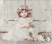Victorian Baby on Porch Fine Art Print