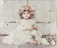 Victorian Baby on Porch Fine Art Print