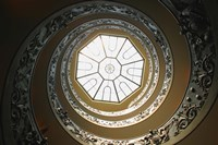 Skylight at the Top of Spiral Staircase Fine Art Print