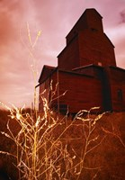 Farmhouse Against a Red Sky Fine Art Print