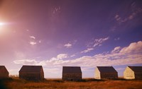 Sheds in a Grass Field Fine Art Print