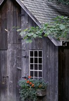 White Window on an Old Wooden House Fine Art Print