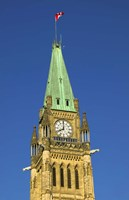 Clock Tower with Canadian Flag Fine Art Print