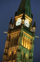 Watch Tower in London at Night Fine Art Print