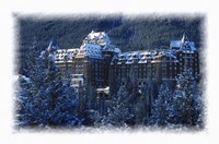 Ski Resort in the Swiss Alps at Winter Fine Art Print