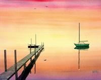 Pier & Boat Fine Art Print