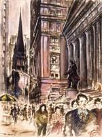 New York Wall Street Fine Art Print