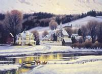 Moonlit Village Fine Art Print