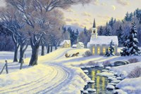 Winter Crossroads Fine Art Print