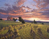 Harvest Sunset Fine Art Print