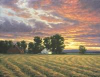 Red Autumn Sunset Fine Art Print