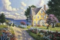 Seaside Village Fine Art Print