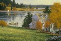 Autumn Lake House Fine Art Print