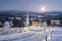 Winter Night By Moonlight Fine Art Print