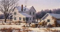 Winter Chores Fine Art Print