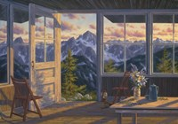 Last Light At Winchester Lookout Fine Art Print