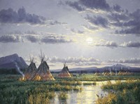 Moonlit Encampment Fine Art Print