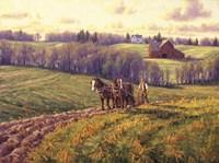 April Field Work Fine Art Print