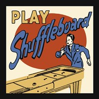 Play Shuffleboard Framed Print
