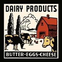 Dairy Product-Butter, Eggs, Cheese Fine Art Print