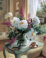 Tea At Marguerites Fine Art Print