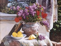 Lilacs And Lemons Fine Art Print