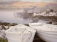 Two Boats at Sunrise, Nova Scotia 11 Fine Art Print