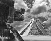 The Serpent And The Pyramid, Chechinitza, Mexico 02 Framed Print