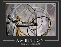 Ambition Motivational Fine Art Print