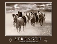 Strength Motivational Fine Art Print